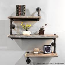Wood Wall Shelf Designs by Amazon Com Industrial Pipe Shelving Bookshelf Rustic Modern Wood