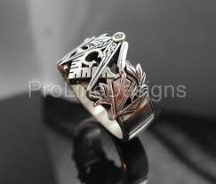 Sterling Silver Monogram Rings Monogrammed Masonic Ring In Sterling Silver Style 002m Proline