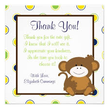 interesting thank you note from baby for baby shower gift 32 for