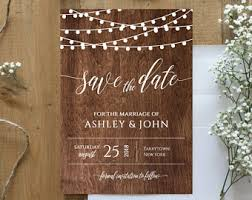 rustic save the dates rustic save the date etsy