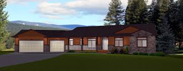 ranch house plans with walkout basement angled garage front view same roof line attaching garage to
