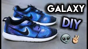 how to galaxy your shoes no airbrush full roshe run custom