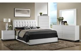 Bedroom Furniture Melrose Discount Furniture Store - White leather contemporary bedroom furniture
