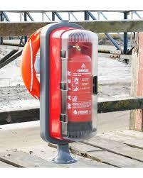 marina safety station fire extinguisher cabinet u0026 lifebuoy mounting