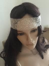 forehead bands stretch lace headband wide boho lace white o ivory womens