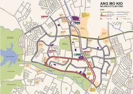 Mo Map Ang Mo Kio Model Walking And Cycling Town Cycling Infrastructure