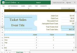 Spreadsheet For Sales Tracking by Ticket Sales Tracker Template For Excel
