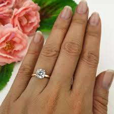 1 5 ct engagement ring solitaire ring man made diamond
