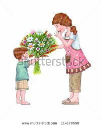 Flowers For Mom Moms Day Word Mother Bird Bringing Stock Vector 604238021