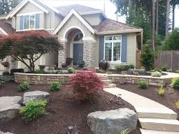 front lawn landscaping ideas without grass backyard fence ideas