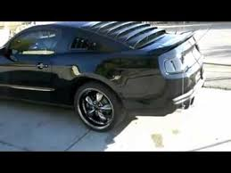 2009 Black Mustang Gt Custom 2010 Mustang Gt Black Murdered Smoked Out Before And After