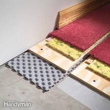 Diy Basement Flooring How To Carpet A Basement Floor Family Handyman