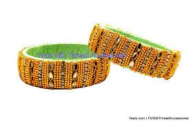 yaalz rich gold u0026 stone work kada bangle sets in pista green color