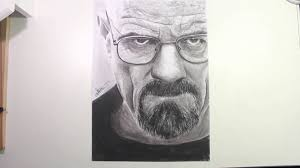 speed drawing walter white heisenberg in breaking bad youtube