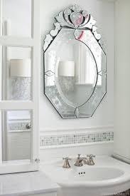 modern bathroom with venetian mirrors home