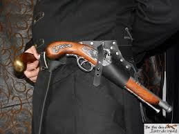 pirate universal leather flintlock holster with belt option