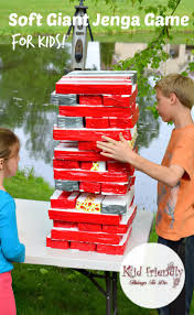 a diy awesome soft giant jenga game for kids