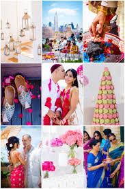 chic and vibrant indian rooftop wedding in new york weddbook