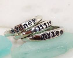 Custom Rings With Names Stackable Name Rings