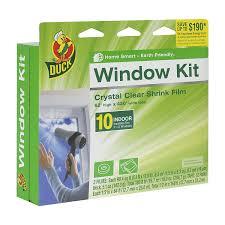House Plan 45 8 62 4 Duck Brand 281506 Indoor 10 Window Shrink Film Insulator Kit 62