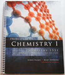 principles of chemistry i mary newberg lubna haque 9781599846002