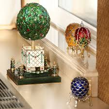 faberge egg bay tree faberge style musical egg green product