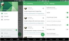 pushbullet updated with material design overhaul