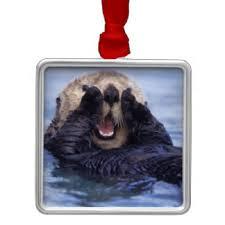 sea otter ornaments keepsake ornaments zazzle