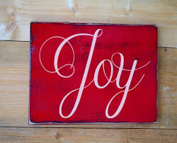 christmas holiday decor joy wood sign rustic wall art painted