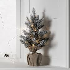 53cm aspen forest pre lit frosted mini christmas tree lights4fun