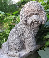 cast bichon frise statue by springhillstudio on etsy