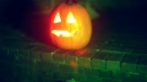 glowing pumpkin jack o lantern halloween stock video footage