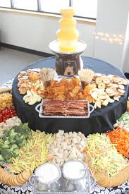 Buffet Items Ideas by Cheese Fountain With Lots Of Dipping Items Appetizers