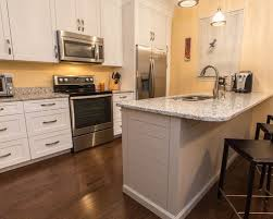 Shaker Style Kitchen Cabinets White Shaker Style Kitchen Cabinets With Shiplap Style Island