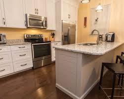 Shaker Style Kitchen Cabinets White Shaker Style Kitchen Cabinets With Shiplap Style Island