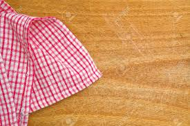 Wooden Kitchen Table Background Table Kitchen Napkin On Wooden Background Stock Photo Picture