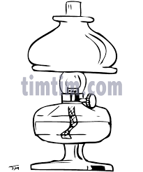 free drawing of oil lamp bw from the category building home tools