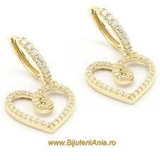 cercei de aur bijuterii cercei aur galben colectie noua italia bijuterii
