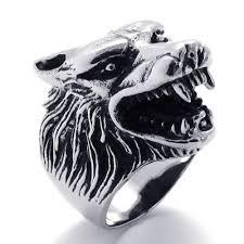 stainless steel mens rings konov jewelry vintage biker wolf stainless steel men s ring