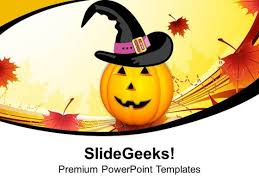 pumpkins evil festival halloween powerpoint templates and