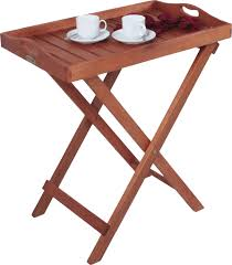 tray stand folding tray table coffee table garden table oiled