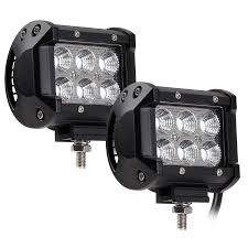 torchstar led light bar 2pcs 18w 1800lm cree led road work