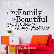 popular beautiful quote wall art buy cheap beautiful quote wall mad world every family is beautiful quote wall art stickers decal home diy decoration wall