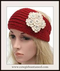 headband ear warmer applique knit headband ear warmer turban ear warmer