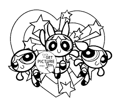 powerpuff girls on vacation coloring pages for kids printable free