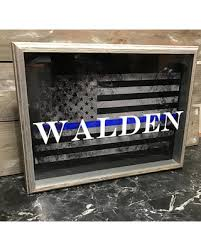 personalized cracker boxes here s a great deal on personalized thin blue line flag shadow box