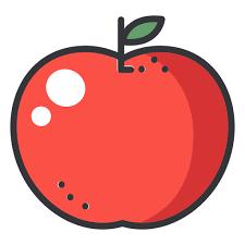 apple cartoon apple color stroke icon transparent png svg vector