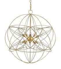 Orb Light Fixture by Gold And Silver Orb Geometric Chandelier The Designer Insider