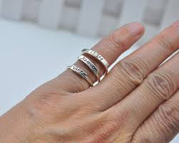 stacking name rings aliexpress buy wholesale sterling silver stacking ring
