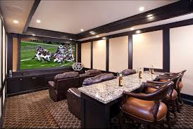 basement theater room love the stepped seating and bar basement